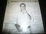 LEONARD COHEN/LIVE SONGS