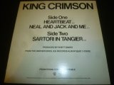 "KING CRIMSON/HEARTBEAT (12"")"