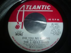 画像1: J. GEILS BAND/DID YOU NO WRONG