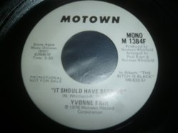 画像1: YVONNE FAIR/IT SHOULD HAVE BEEN ME