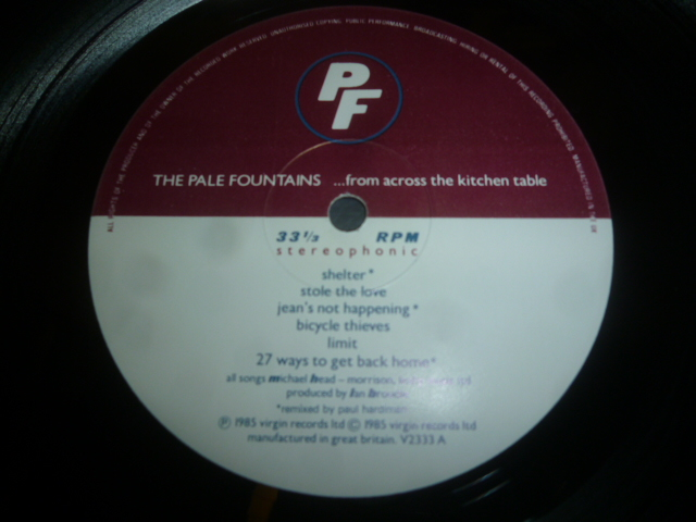 Pale fountains from across the kitchen table exile records watchthetrailerfo